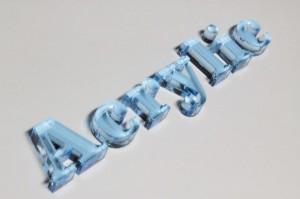 アクリル切り文字ブルー