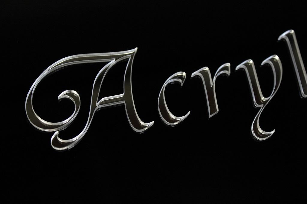アクリルミラー文字