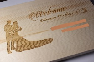 ウェルカムボード木素材